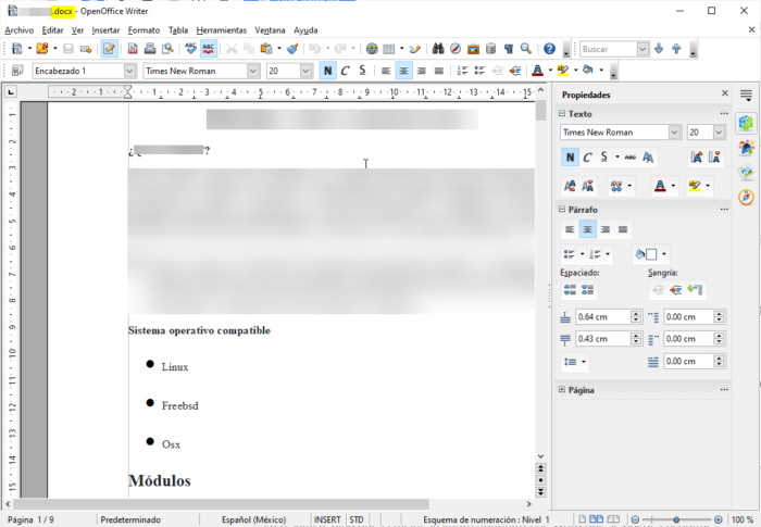 OpenOffice Writer compatible con Word